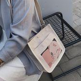 完封高麗菜帆布包 夏季帆布包女包潮韓版百搭斜背包側背日繫少女小布包