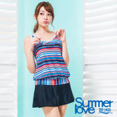 【夏之戀SUMMERLOVE】加大碼長版三件式泳衣-S17727