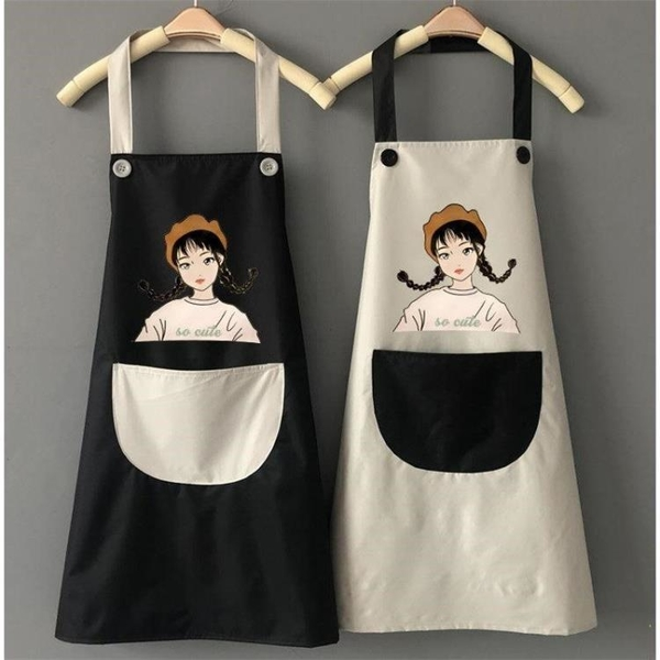 可愛圍裙家用廚房防水防油日系做飯家務時尚女工作成人男定制LOGO1入