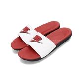 Nike 拖鞋 Kawa Slide JDI GS PS 白 紅舒適鞋底 基本款 女鞋 大童鞋 中童鞋【PUMP306】 CI2061-001