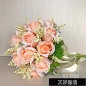 仿真玫瑰新娘結婚手捧花歐式【全館免運】