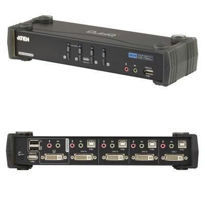 【客訂商品】 ATEN 宏正 CS-1784A 4埠USB DVI Dual Link KVMP 多電腦切換器