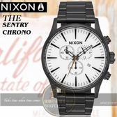 NIXON 實體店THE SENTRY CHRONO潮流時尚腕錶A386-756公司貨/極限運動/名人配戴/情人節