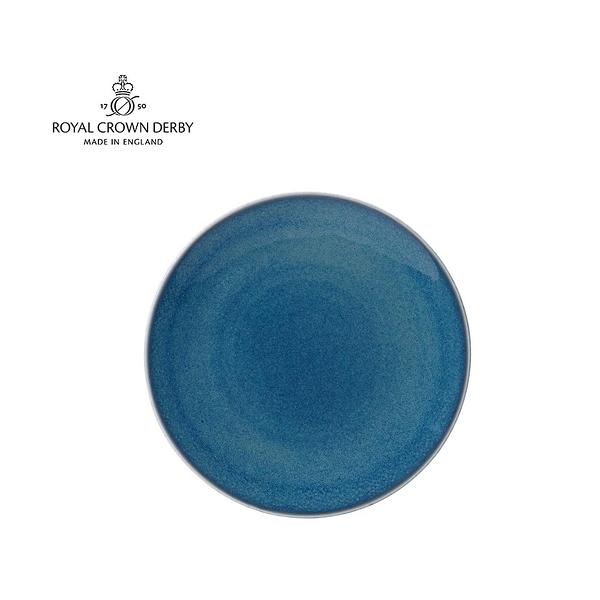 英國Royal Crown Derby-Art Glaze藝術彩釉系列-21CM點心盤-滄藍