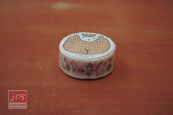 日本倉敷意匠和紙膠帶-森林(紅18mm)