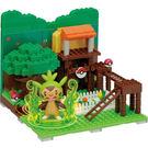 【日本KAWADA河田】NanoblockPLUS積木-神奇寶貝/寶可夢系列-針栗鼠的樹屋 PP-002