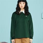 SISJEANS-綠色橄欖球側開扣長袖上衣【1829600607】