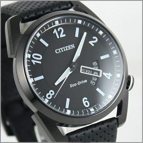 【萬年鐘錶】CITIZEN 光動能 時尚皮錶 AW0015-08E