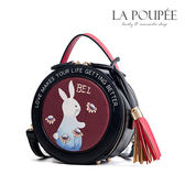 側背包 可愛手繪兔子流蘇小圓包 2色 -La Poupee樂芙比質感包飾 (現貨+預購)