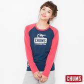 CHUMS 日本 女 L/S 吸濕快排 運動長袖T恤 TransDRY 深藍 CH111174N001