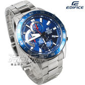 EDIFICE EFV-550D-2A 公司貨 三眼計時碼錶設計 賽車錶 男錶 藍色 EFV-550D-2AVUDF CASIO卡西歐