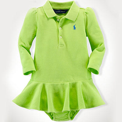 POLO Ralph Lauren 洋裝 長袖 綠色 18M 24M