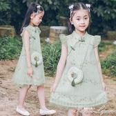 女童連身裙夏裝新款洋氣公主裙兒童漢服旗袍女孩中大童裝裙子 范思蓮恩