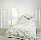 北歐簡約手工編織懶人沙發棉線豆袋可拆洗休閒榻榻米粗毛線沙發 【全館免運】