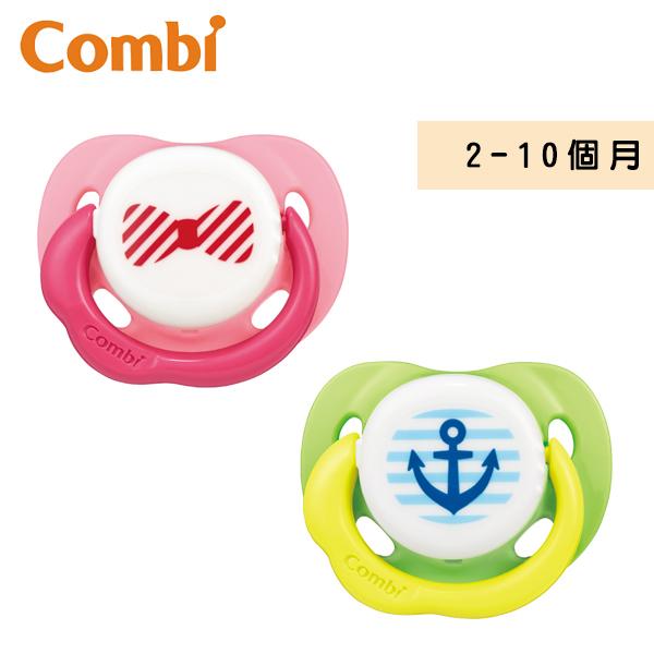 康貝 Combi 微笑安撫奶嘴(M)-微笑粉/微笑綠