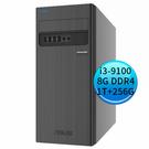 ASUS 華碩 D340MC-I39100007R (i3-9100//8G/1TB+256GB/WIN 10 Pro) 商用桌上型套裝電腦