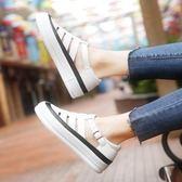 小白鞋女夏季新款透氣運動鞋百搭韓版帆布鞋學生休閒鏤空女鞋  卡布奇諾