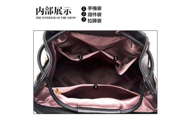 後背包-現貨販售-質感十字紋防水皮質束口袋兩用後背包 寶來小舖 -A821
