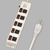 【現貨即出】鐵殼 9尺 電腦延長線 5開5插 TK-355 威電牌