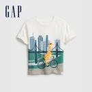 Gap男幼童 可愛印花圓領短袖T恤 681425-白色