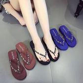 拖鞋 夏季時尚平底防滑簡約夾腳涼拖鞋