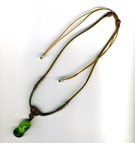 鹿港窯~開運古法水晶琉璃雕項鍊~諸事順利◆附精美包裝◆免運費送到家
