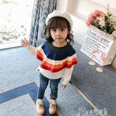女童冬裝毛衣小童裝毛衫兒童針織套頭純棉寶寶上衣  奇思妙想屋