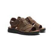 WALTZ-夏日必備簡約男涼鞋632057-23深咖