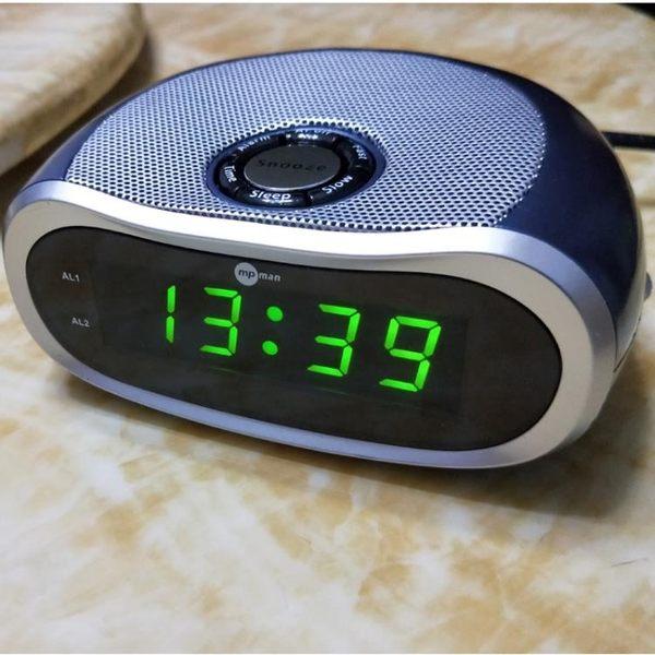 mpman鐘控收音機鬧鐘定時開關收音機時鐘夜視背光半導體 全館滿千折百