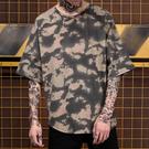短袖T恤-oversize蝙蝠袖圓弧下擺男上衣3色73qw32[巴黎精品]