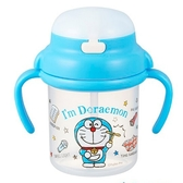 〔小禮堂〕哆啦A夢 幼兒彈蓋塑膠雙耳學習杯《藍.竹蜻蜓》270ml.水杯.兒童水壺 4970825-12140