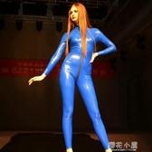 魅色高亮彈力鏡面乳膠氨緊身膠衣全身連體裝舞台T台走秀歐美GQ08『櫻花小屋』