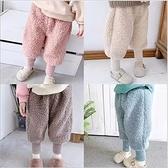 長褲 男女童冬季羊羔絨加厚加絨保暖長褲