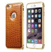[24hr-現貨快出] 蘋果 新款 iPhone6 手機殼 手機套 殼 iPhone6 plus 鱷魚紋邊框加背板超薄 保護套 皮套