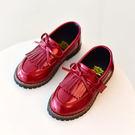 饅頭家-男女童鞋3-7歲春款復古流蘇蝴蝶結牛津鞋皮鞋(3色)【5A017】