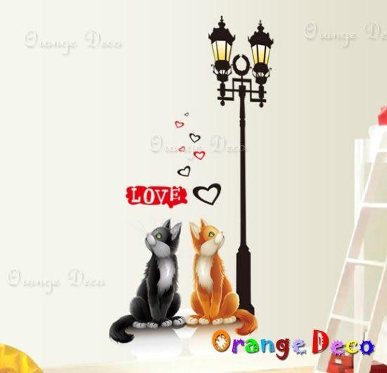 壁貼【橘果設計】貓咪 DIY組合壁貼/牆貼/壁紙/客廳臥室浴室幼稚園室內設計裝潢