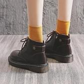 馬丁靴女春秋女鞋百搭單靴靴子日系英倫風秋冬季短靴-Milano米蘭