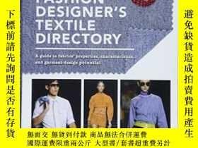 二手書博民逛書店The罕見Fashion Designer s Textile Directory-時裝設計師的紡織品目錄Y4