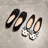 甜美娃娃鞋 2021春秋平底方頭單鞋女淺口平跟軟底舒適豆豆鞋歐美風奶奶鞋絨面 豆豆鞋