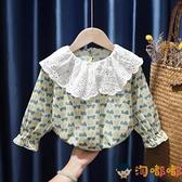 童裝女童長袖打底衫寶寶碎花上衣T恤娃娃衫兒童小嬰兒【淘嘟嘟】