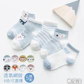 涼夏動物超薄透氣網眼短襪 (5雙一組) 橘魔法 Baby magic 現貨 男女童 襪子 涼爽短襪不悶熱