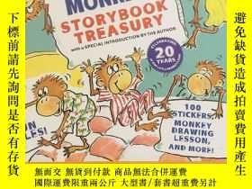 二手書博民逛書店Five罕見Little Monkeys Storybook Treasury 精裝本,書後貼合已被用Y234