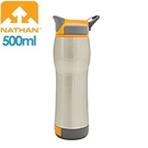 【NATHAN 美國 雙層保溫不鏽鋼水壺500銀】 NA4091N/不鏽鋼/雙層保溫/置杯架/大瓶口/輕巧便利