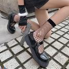 中筒襪襪子女夜間實驗漁網襪女短筒性感鏤空網格襪子朋克中筒ins日系jk網眼潮【寶貝 新品】