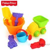 沙灘玩具 兒童軟膠沙灘玩具車桶寶寶玩沙挖沙鏟子洗澡工具玩決明子玩具XW  一件免運