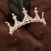 兒童皇冠頭飾公主女童表演王冠水晶發箍小孩生日發卡鋼琴演出飾品