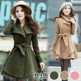 【韓國K.W.】(現貨在台) 氣質公主好感設計毛呢長袖外套