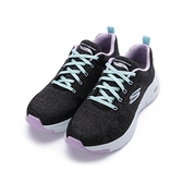 SKECHERS ARCH FIT-COMFY WAVE 寬楦綁帶休閒鞋 黑紫 149414WBKLV 女鞋 運動