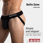 丁字褲 2條裝Dolin Zone男士純棉性感丁字褲雙丁透氣情趣內褲 丁字褲 男 極客玩家