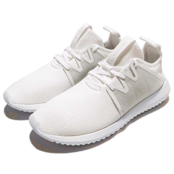 adidas 休閒鞋 Tubular Viral2 W 白 全白 小白鞋 女鞋 基本款 【PUMP306】 BY9743